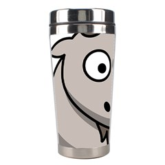 Goat Sheep Animals Baby Head Small Kid Girl Faces Face Stainless Steel Travel Tumblers