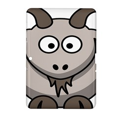 Goat Sheep Animals Baby Head Small Kid Girl Faces Face Samsung Galaxy Tab 2 (10 1 ) P5100 Hardshell Case  by Alisyart