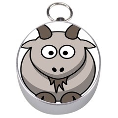 Goat Sheep Animals Baby Head Small Kid Girl Faces Face Silver Compasses by Alisyart