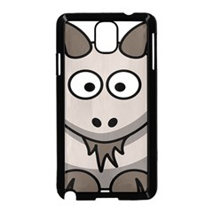 Goat Sheep Animals Baby Head Small Kid Girl Faces Face Samsung Galaxy Note 3 Neo Hardshell Case (black)