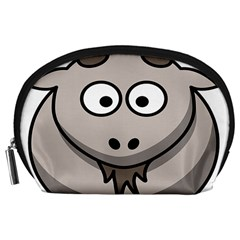 Goat Sheep Animals Baby Head Small Kid Girl Faces Face Accessory Pouches (large)  by Alisyart