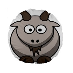 Goat Sheep Animals Baby Head Small Kid Girl Faces Face Standard 15  Premium Flano Round Cushions by Alisyart