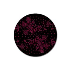 Floral Pattern Background Magnet 3  (round)