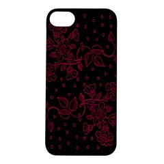 Floral Pattern Background Apple Iphone 5s/ Se Hardshell Case by Simbadda