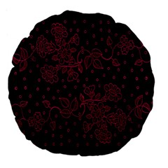 Floral Pattern Background Large 18  Premium Flano Round Cushions by Simbadda