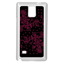 Floral Pattern Background Samsung Galaxy Note 4 Case (white) by Simbadda