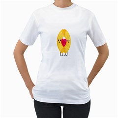 Say Pasta Love Women s T Shirt (white) (two Sided) by Alisyart