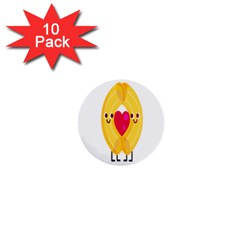 Say Pasta Love 1  Mini Buttons (10 Pack)  by Alisyart