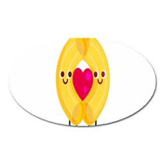 Say Pasta Love Oval Magnet