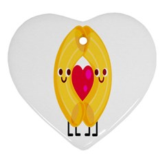 Say Pasta Love Heart Ornament (two Sides) by Alisyart