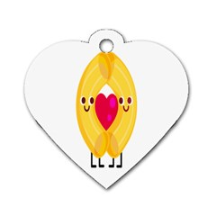 Say Pasta Love Dog Tag Heart (one Side) by Alisyart