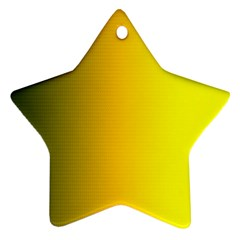 Yellow Gradient Background Ornament (star) by Simbadda