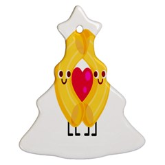 Say Pasta Love Christmas Tree Ornament (two Sides) by Alisyart