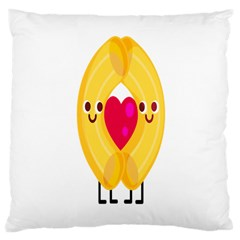 Say Pasta Love Large Cushion Case (one Side) by Alisyart
