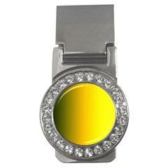 Yellow Gradient Background Money Clips (cz)  by Simbadda