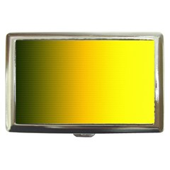 Yellow Gradient Background Cigarette Money Cases by Simbadda