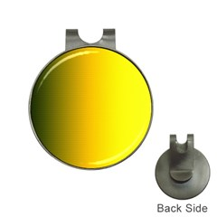 Yellow Gradient Background Hat Clips With Golf Markers by Simbadda