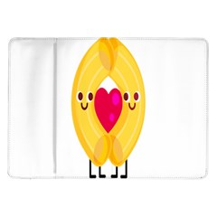 Say Pasta Love Samsung Galaxy Tab 10 1  P7500 Flip Case