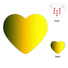 Yellow Gradient Background Playing Cards (heart)  by Simbadda