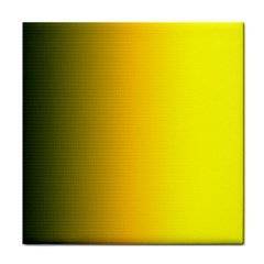 Yellow Gradient Background Face Towel by Simbadda