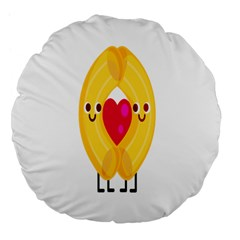Say Pasta Love Large 18  Premium Flano Round Cushions by Alisyart