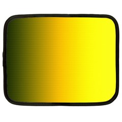 Yellow Gradient Background Netbook Case (xxl)  by Simbadda