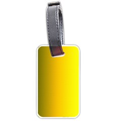 Yellow Gradient Background Luggage Tags (one Side)  by Simbadda