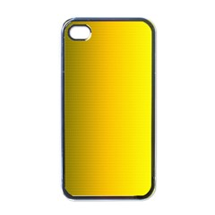Yellow Gradient Background Apple Iphone 4 Case (black) by Simbadda