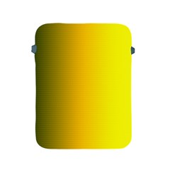 Yellow Gradient Background Apple Ipad 2/3/4 Protective Soft Cases by Simbadda