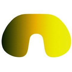Yellow Gradient Background Travel Neck Pillows