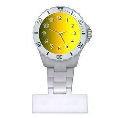 Yellow Gradient Background Plastic Nurses Watch