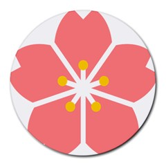Sakura Heart Guild Flower Floral Round Mousepads by Alisyart