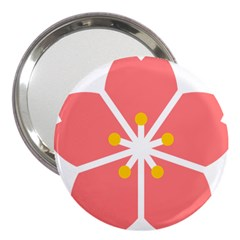 Sakura Heart Guild Flower Floral 3  Handbag Mirrors by Alisyart