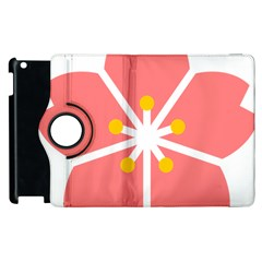 Sakura Heart Guild Flower Floral Apple Ipad 3/4 Flip 360 Case by Alisyart