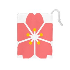 Sakura Heart Guild Flower Floral Drawstring Pouches (medium)  by Alisyart