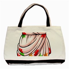 Petal Pattern Dress Flower Basic Tote Bag by Alisyart