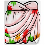 Petal Pattern Dress Flower Canvas 11  x 14   14 x11 Canvas - 1