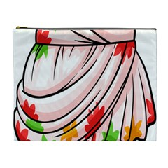 Petal Pattern Dress Flower Cosmetic Bag (xl)