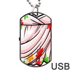 Petal Pattern Dress Flower Dog Tag Usb Flash (one Side) by Alisyart