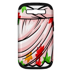 Petal Pattern Dress Flower Samsung Galaxy S Iii Hardshell Case (pc+silicone) by Alisyart
