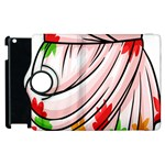 Petal Pattern Dress Flower Apple iPad 3/4 Flip 360 Case Front