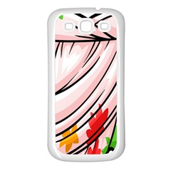 Petal Pattern Dress Flower Samsung Galaxy S3 Back Case (white)
