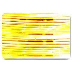 Yellow Curves Background Large Doormat  by Simbadda