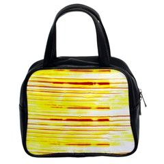 Yellow Curves Background Classic Handbags (2 Sides) by Simbadda