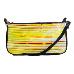 Yellow Curves Background Shoulder Clutch Bags