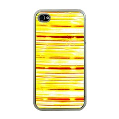 Yellow Curves Background Apple Iphone 4 Case (clear) by Simbadda