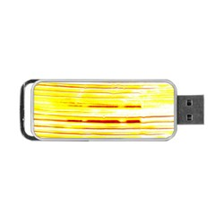 Yellow Curves Background Portable Usb Flash (one Side)