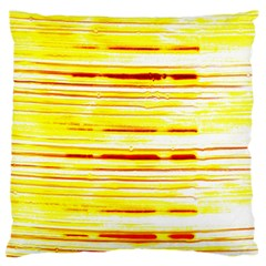 Yellow Curves Background Large Flano Cushion Case (one Side) by Simbadda