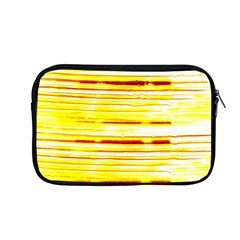 Yellow Curves Background Apple Macbook Pro 13  Zipper Case by Simbadda