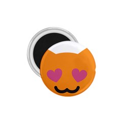 Smile Face Cat Orange Heart Love Emoji 1 75  Magnets by Alisyart